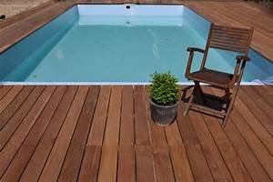 les differentes essences pour vos terrasses With terrasse bois avec piscine 1 terrasse bois piscine lame terrasse chene meleze douglas