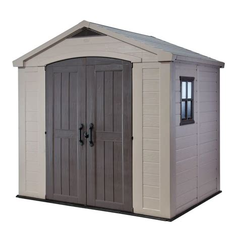 outdoor sheds home depot keter factor 8 ft x 6 ft outdoor storage shed 213039