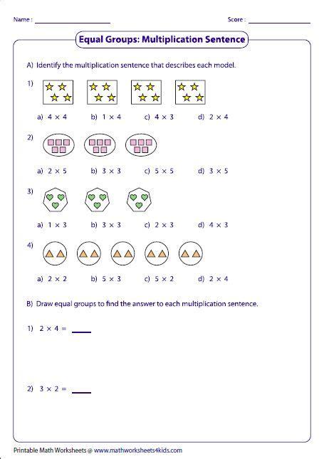 multiplication models worksheets multiplication