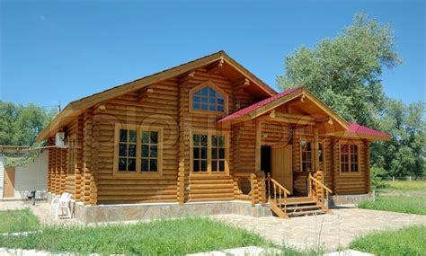 Wooden Houses : Porch Of The Big Wooden House Combined ...