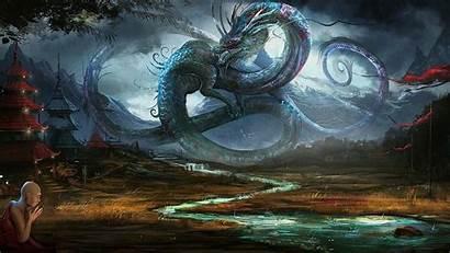Dragon Fantasy Wallpapers Dragons Chinese Village Ancient