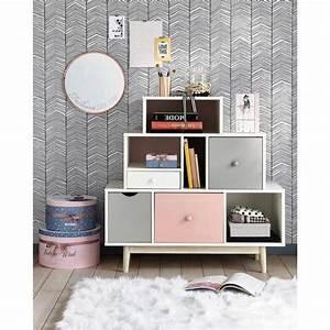 Cabinet Maison Du Monde : cabinet vintage blanc et rose chambre d 39 enfant pinterest bois blanc maison du monde et en ~ Nature-et-papiers.com Idées de Décoration
