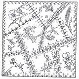 Crazy Quilt Quilting Patterns Block Barn Embroidery Blocks Trail County Schoharie Bordado Patchwork Stitches Herbs Comes Stitched Many Ago Turned sketch template