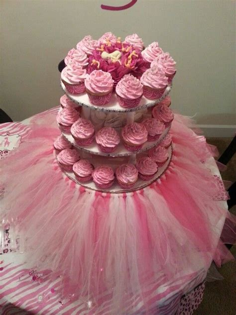 girl baby shower tutu cupcakes treels custom