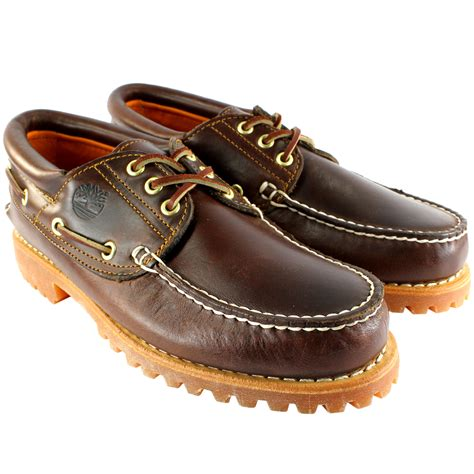 Timberland Heritage Boat Shoes Uk by Mens Timberland Heritage Classic Lug Leather Lace Up Boat