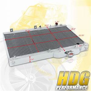 Two Row Aluminum Radiator Assembly Replacement For 00