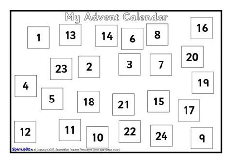 Make Your Own Advent Calendar Template by Make Your Own A4 Sized Advent Calendar Sb1062 Sparklebox