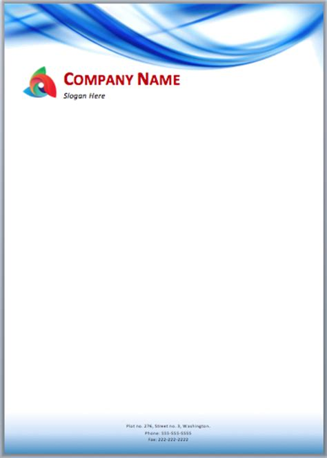letterhead design  word format letterhead sample