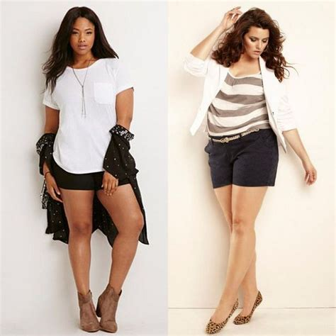 30 Plus Size Shorts Outfit Ideas For Beautiful Curvy Ladies | GlossyU.com