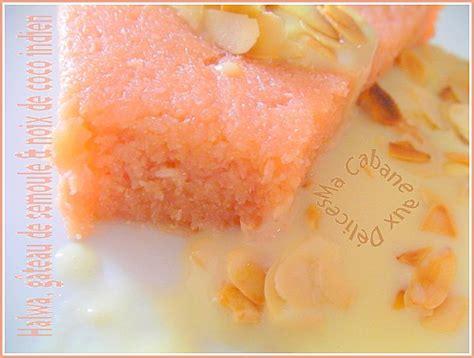 cuisine russe recettes halwa gateau de semoule noix de coco dessert indien