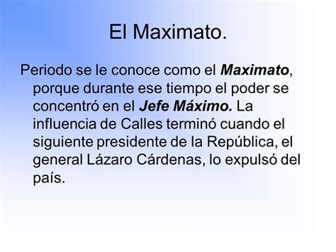 plutarco el 237 as calles el maximato maximato ppt