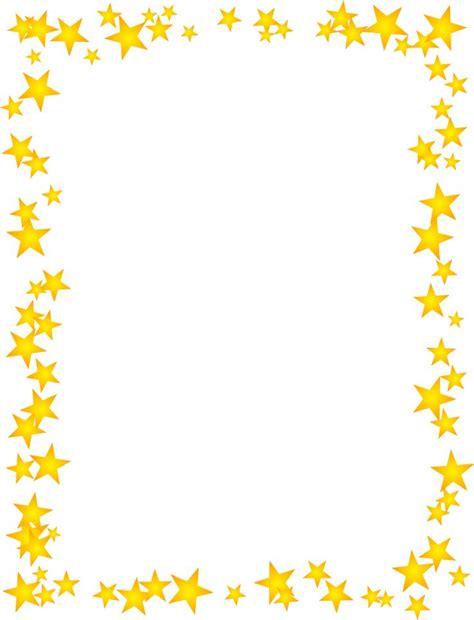 gold stars scattered border clip art borders borders