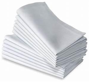 Serviette De Table Blanche : serviette carre blanc pas cher ~ Teatrodelosmanantiales.com Idées de Décoration