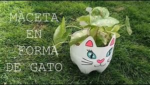 Maceta De Gato Hecha Con Botella De Pl U00e1stico Diy