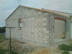 exemple de rajout de construction de ciment et de pierre With construction d un garage en parpaing