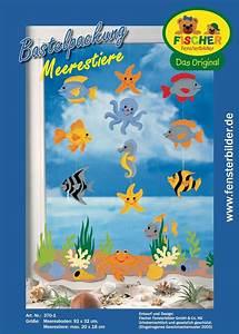 Sommer Basteln Kinder : fensterbild bastelvorlage meerestiere fischer fensterbilder ~ Orissabook.com Haus und Dekorationen