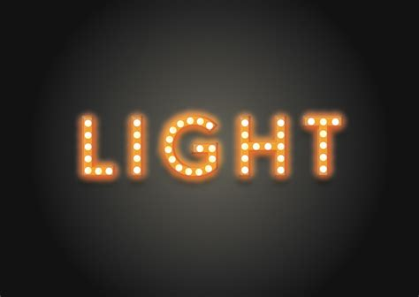 light photo editor how to create a glamorous light bulb text effect in