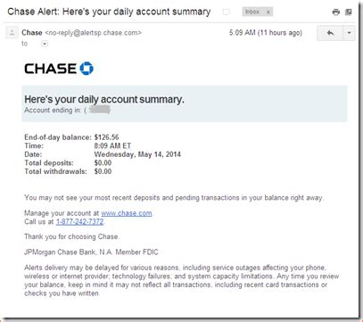 chase bank statements template business