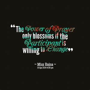 Power Of Prayer Quotes  Quotesgram
