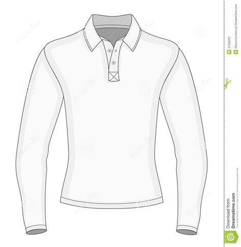 mens long sleeve polo shirt royalty  stock