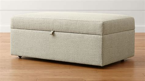 Storage Ottomans With Trays - lounge ii light grey storage ottoman crate and barrel