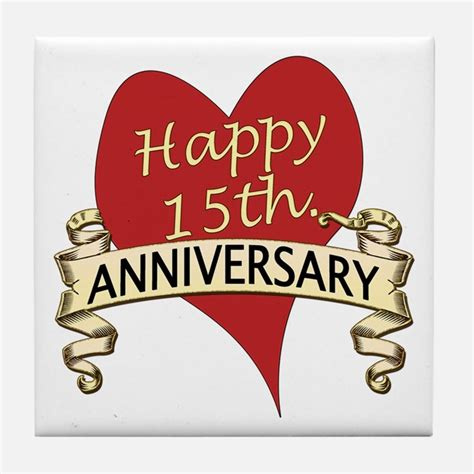 15th anniversary 15th wedding anniversary coasters cork puzzle tile coasters cafepress