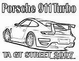 Porsche Coloring 911 Fast Furious Cars Pages Race Printable Nascar Gt Drawing Racing Turbo Gt3 Street Rs Drawings Template Colouring sketch template