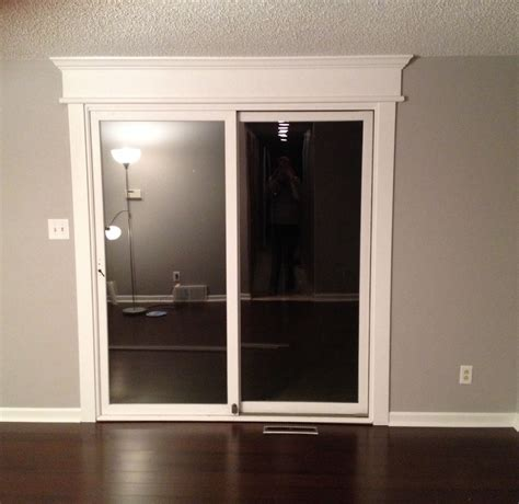 Glass Sliding Doors by Diy Sliding Glass Door Trim Grey And White