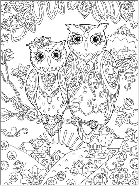 hoot owl coloring page  printable coloring pages hard