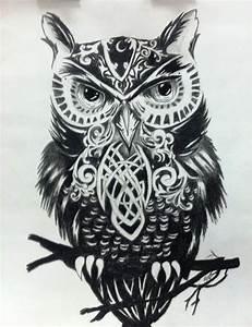 black & white owl (illustrator unknown)   Muse   Pinterest ...