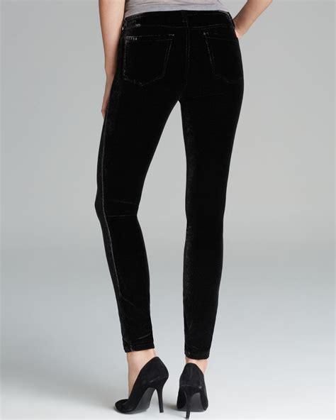 blank jeans black velvet skinny  black lyst