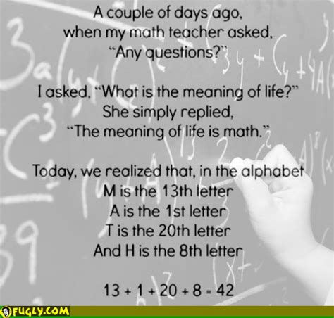 what is the meaning of a the meaning of life is math