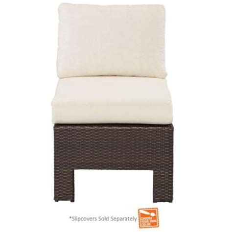 hton bay patio furniture cushion covers hton bay beverly patio sectional middle chair with