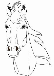 horse coloring pages   Free horse face coloring page ...