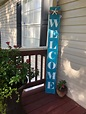 Beach themed WELCOME porch sign. Simple but cute!! in 2020 ...