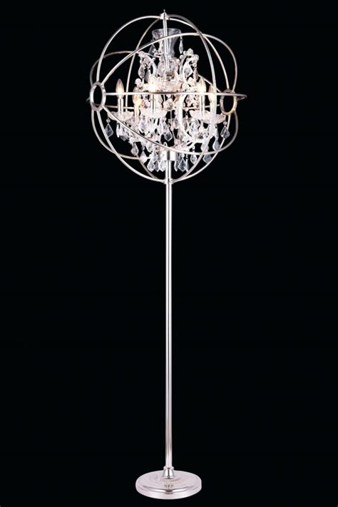 chandelier floor l amazon buy azura table l crystal metal base fabric shade at