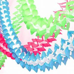 tissue, paper, garland, party, decoration, by, peach, blossom