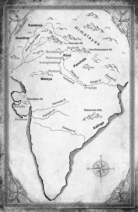 mahabharata map  ancient india