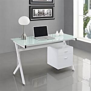White, Glass, Computer, Desk, Pc, Table, Home, Office
