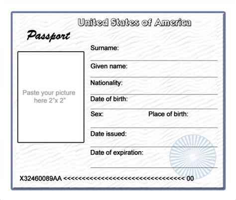 passport template blank passport template www imgkid the image kid has it