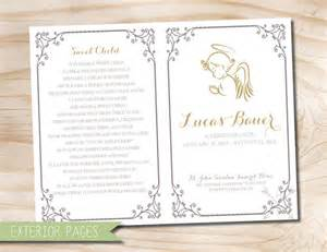 make your own funeral program angel baby child infant funeral or memorial program bulletin