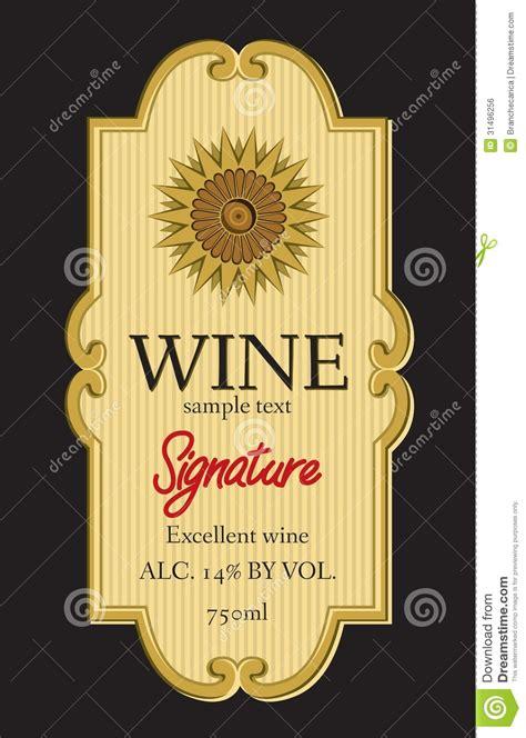 wine label design stock vector illustration  grapevine