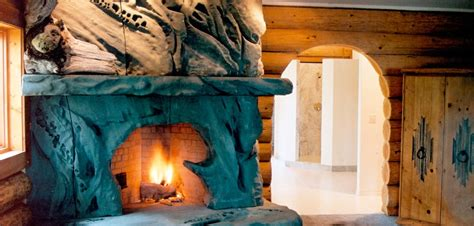 Breathtaking Mosaics Offer Turn Nature Into by Petrified Wood Fireplace Interior Design Ideas