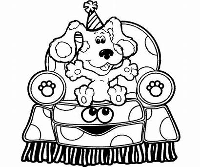 Clues Blues Coloring Pages Birthday Notebook Clipart