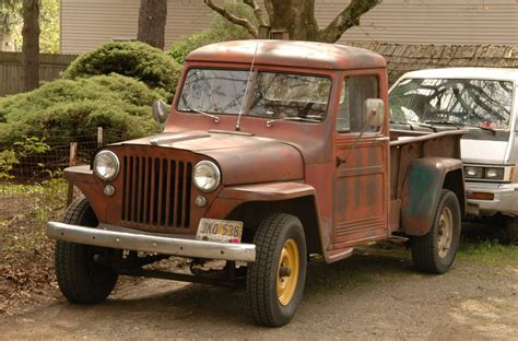 parked cars  willys overland pickup