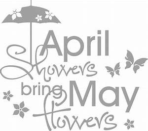 April showers bring May flowers Wall - wall-art com