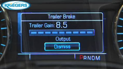 chevy silverado trailer brake controller youtube