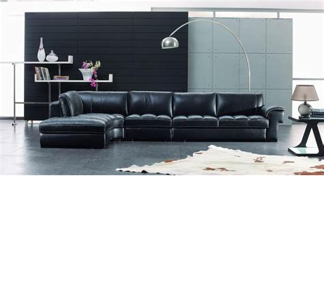 black leather sectional with ottoman dreamfurniture com sbo3999 modern black leather
