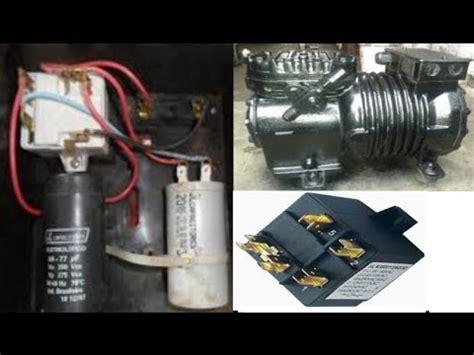 como se conecta un relay y capacitores en un acmarmetic