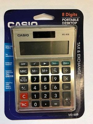 Casio MS-80B Standard Function Desktop Calculator | eBay